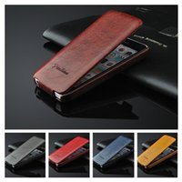 apple dropship - For iphone6 Flip Vintage Retro Verticle Up and Down Open PU Leather Case Cover For iphone S C G quot inch Shell Skin Dropship