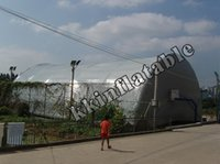 Wholesale super giant meters long arched roof inflatable tunnel tent inflatable air tent