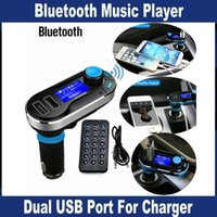 12V stereo Black Car Bluetooth MP3 Player FM Transmitter Hands-free Car Kit speakerphone with Cigarette Lighter charger Dual USB adapter for Phone PC OM-T66