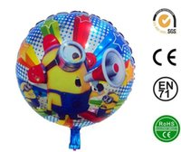 air filled balloons - Foil Balloons Minions Cartoon toys for children can be filled with air hydrogen and helium size cm