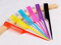 Wholesale Colorful Plastic Hair Pointed Tail Comb For Hairdresser Hair Cutting Styling Makeup Comb Salon Tools