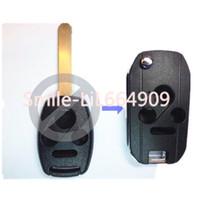 accord flip key - Uncut Switch Keyless Entry buttons Smart Remote FOB Flip Folding Car Key for Honda Accord Civic CR V Pilot
