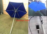 automatic patio umbrellas - Solar Energy Product Sun Umbrella with Solar Panels Charger for iPhone etc Bar Umbrella Patio and Beach umbrella S02B