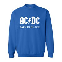 ac dc sweatshirt - Mens Music Letter AC DC band rock Printed Sweatshirt Men Autumn acdc Graphic Long Sleeve O Neck Hoodies Sweatshirts Plus Size