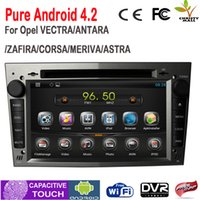 Wholesale For VECTRA ANTARA ZAFIRA Opel Car DVD GPS Pure Android System With Bluetooth Radio G Wifi Canbus Grey Color