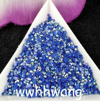 ab resin beads - SS6 Sapphire blue Magic color AB jelly mm resin rhinestones Nail Art Non hotfix beads