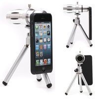 Wholesale DHL X Zoom Phone Camera Telephoto Lens Tripod Holder Case For iPhone