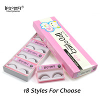 Wholesale IPD New Pairs Handmade Fake False Eyelashes Eye Lashes Extension Natural Thick Plastic Black Terrier With Retail Box