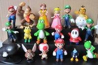 mario figures - Super Mario Bros PVC Action Figures Toy Mario styles Mario Yoshi Luigi Bowser D Model Figures Collection Dolls set DHL sets