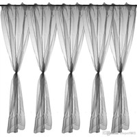 curtain voile - Home Decorative Deep Grey Sheer Voile Window Panel Drape Curtain x140cm