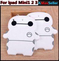 animal print table covers - New Arrival Baymax Silicone White ipad Case Cute Cartoon Table PC Cases Fashion Luxury ANti dust Back Cover for ipad mini