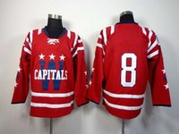 Cheap 2014 2015 Capitals Winter Classic Red Ice Hockey Jerseys #8 Alexander Ovechkin Jersey High Quality Embroidered Hockey Wears Cheap Jerseys