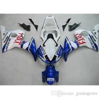 plastic model kits - Blue White Motorcycle Fairing Kits Yamaha YZF R6 Year Model ABS Plastic Fairing Kit Dunlop Painting Sportbike Body Cover Kits