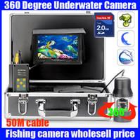 Wholesale 50m PTZ waterproof fishing camera Rotatable PTZ underwater video camera