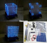 Wholesale Newbrand D mm White LED Blue Ray LightSquared DIY Kit LED Light Cube