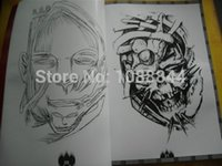 "Cheap Wholesale-Wholesale Demon & Totem Tattoo Flash A3 SKETCH Art Book Vol.1 & 2 16"" 152 pages sketch book Outline Free shipping"