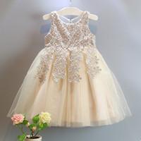 berry princess - Amber berry new Babys Kids clothes spring summer sleeveless cotton lace flowers bow belt girls princess tutu dress ZZ