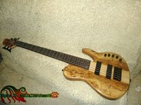 Wholesale Bass Guitar Newest One Piece Neck strings Wooden Electric Bass High Quality Guitars