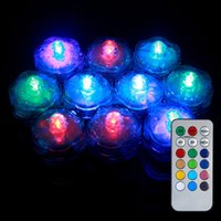 Wholesale Color changing remote control mini led submersible tea light waterproof mini candle light for vase wedding party holiday decoration