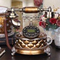Wholesale Telephones For The Home Dect Telefone Antigo Telephone Home Decoration Vintage Sale Antique Phone Fashion Caller Id Resin Gift