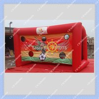 big goals - Red Inflatable Soccer Gate Football Goal m by m Inflatable Football Goal