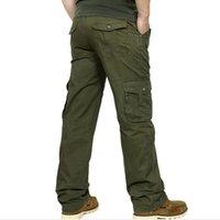 2015 Pantalon New Arrival Brand New Mens Cargo militaire pour hommes multi-poches Pantalon vêtement de plein air de grande taille Army Pants Men