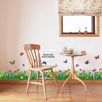PVC animal specification - 10pcs Distribution supply AM5005 grass new specifications baseboard factory direct Wall Stickers