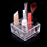 acrylic makeup organizer - 1pc Recommend Top Seller Clear Acrylic Cosmetic lipstick Storage Box Bright Jewelry Organizer Makeup Holder stand cm