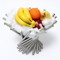 Wholesale Durable Stainless Steel Revolving Fruit Rack Tray Holder Bowl Basket Modernism Decro Best Promotion