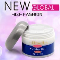 Wholesale 3PCS Uv gel Set color IBD Builder Gel nail art tools g Strong UV Gel Pink Clear White for nail art false tips extension