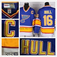 baby p - Factory Outlet St Louis Blues Jerseys Brett Hull Hockey Jersey Blues Throwback Baby Blue Vintage CCM Brett Hull Jerseys With Stitch C P