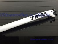 Wholesale White color Time seat post mm full carbon fiber road bicycle seatpost k road bike seat post glossy finish