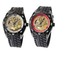 Wholesale Watches Cool Men Retro famous design style Hollow Mechanical Watch Vintage Wheel Gear Watch model waitingyou
