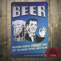 bacon decoration - Beer Quote Helping People Forgot they left the Bacon FRYING Metal Retro Wall Sign Plaque