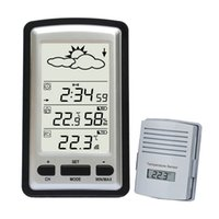 Cheap Digital Wireless Weather Stations Indoor Outdoor Thermometer Barometer Clock free shipping