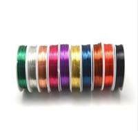 Wholesale 1mm gauge m roll rolls Colors round Copper Wire DIY Jewelry Bracelet earring wire memory wire
