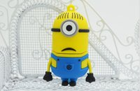 usb flash drive novelty - New arrival GB GB GB novelty cartoon Minions Despicable Me USB Flash Drive Memory Stick pendrive dropshipping from goodmemory