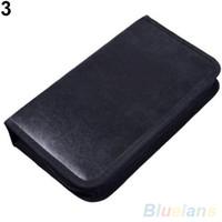 Wholesale 80 Disc CD Holder DVD Case Storage Wallet VCD Organizer Faux Leather Bag UBR PY