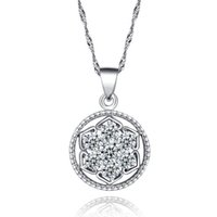 Silver 999 Silver Silver Anton Wolf 925 sterling silver pendants flowers flash diamond jewelry boutiques selling wholesale supply Agent