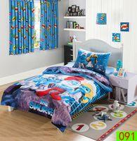Wholesale Child Adult Lovely Smurfs Cotton cartoon kids bedding set Bed Linen d bedding sets duvet cover bed sheet pillowcases Bedding Set