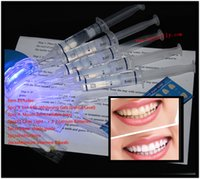 Cheap 100Packs lot 0.1%-44% 5ml Carbamide Peroxide (5 Syringe) Home Use Tooth Whitener Bleaching Teeth Whitening Whitener Kit MY367