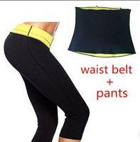 Wholesale 20set EMS Pants Waist Belt Hot Shapers Sports Pants Set Women s Slimming Sets Body Shaper Waist Training Corsets Plus Size XXL XXXL