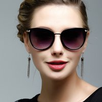 Wholesale Distinctive Sunglasses For Women UV400 Fashion Sunglass In China Eyewear Sunglasses Red Lens Fashion Women Sun Glasses With Cases