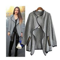 Wholesale Top Fashion Spring Autumn European and American Style New Womens Sweaters Long Sleeve Cardigans Knitted Slim Fit Coat Coat