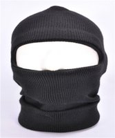 Wholesale 100 New Fashion Full Ski Mask Balaclava Knit Hat Skullies Quality Winter Snow Men Stretch Cap Warm Beanies