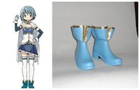 Wholesale Sayaka Miki Cosplay Costume - Wholesale-2015 Limited New Freeshipping Ankle Platforms Boots Puella Magi Madoka Magica Sayaka Miki Cosplay Costume Boots Boot Shoes Shoe