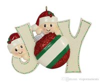 personalized ornaments - Joy Family Members of Personalized Christmas Holiday Ornaments