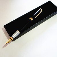 Wholesale Hot Fountain Pen with nice gift box g black and gold color one piece a office supplies metal pen