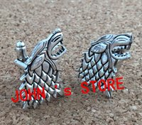 Wholesale Freeshipping pc a the Game of Thrones Stark Cufflinks UNWX02