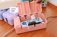 Wholesale Flip desktop thermal power cord receive a case drag line board box Storage box